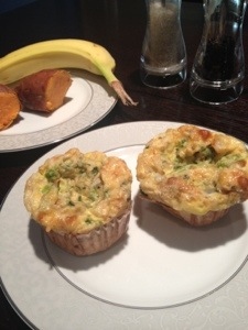 Breakfast Egg Muffins with Kale & Cheese