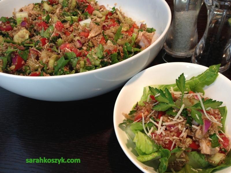 Turkey & Quinoa Salad (Vegetarian Version: Substitute Tofu for Turkey)