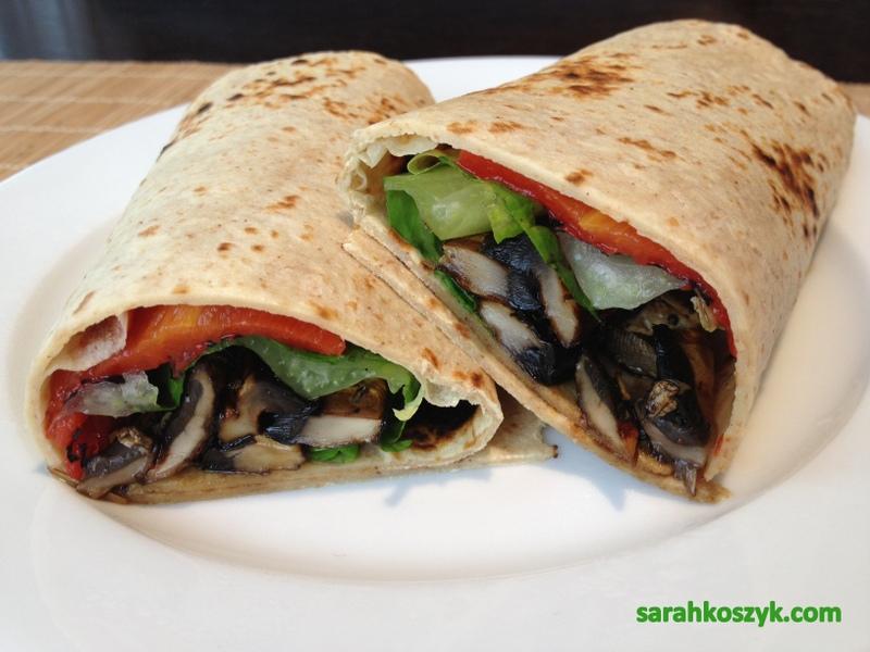 Grilled Portobello Mushroom Wrap
