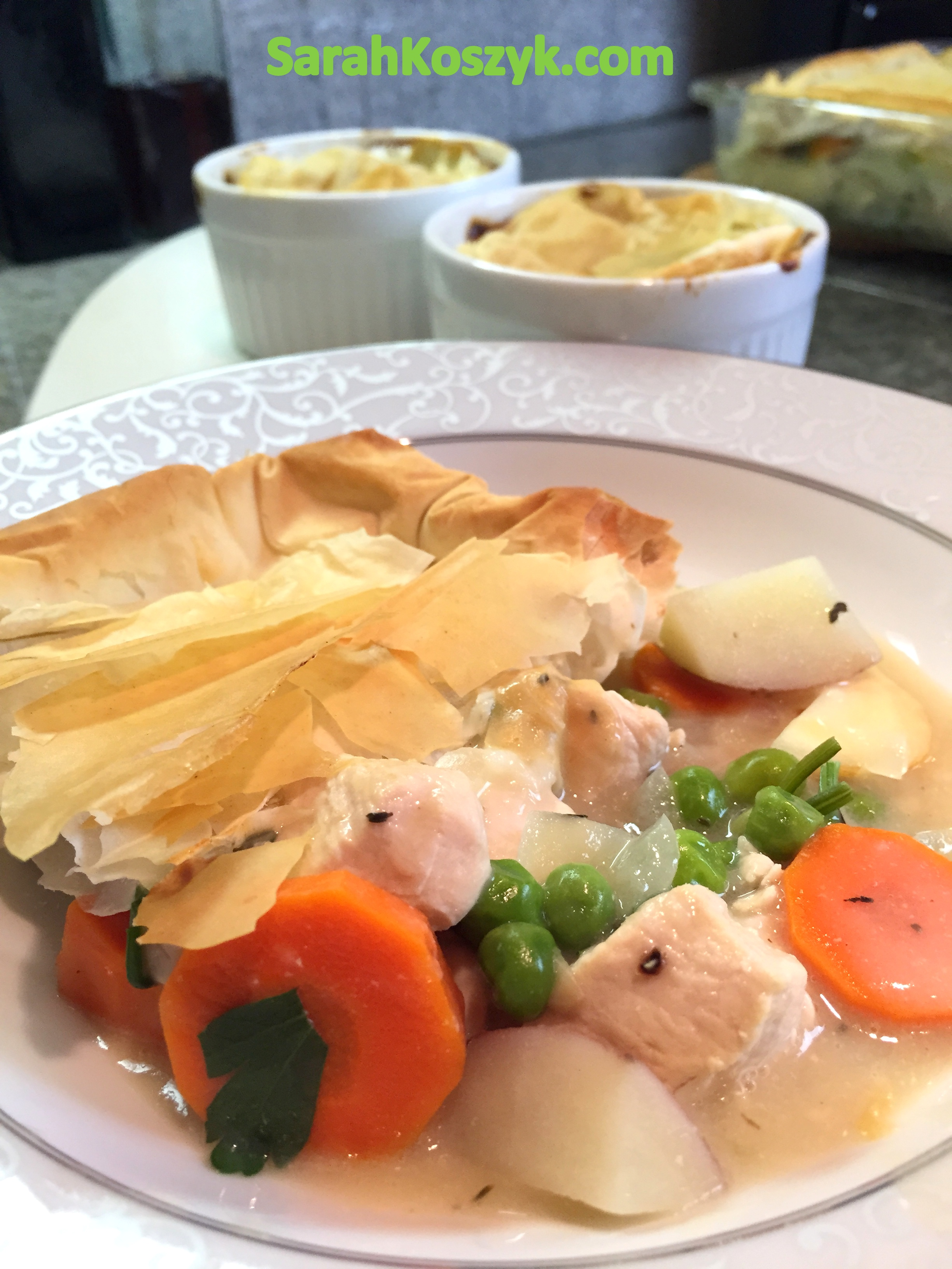 Healthy and Low Fat Chicken Pot Pie