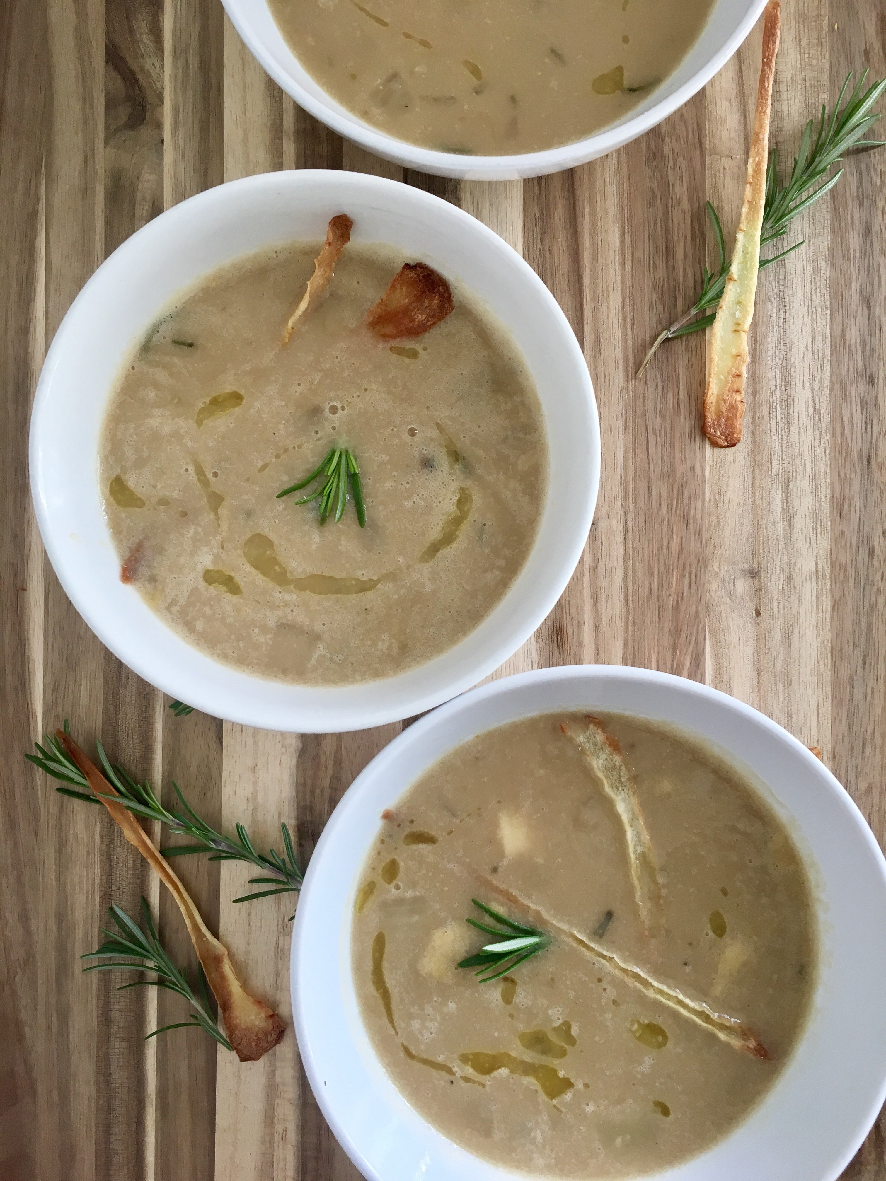 White Bean and Parsnip Winter Soup