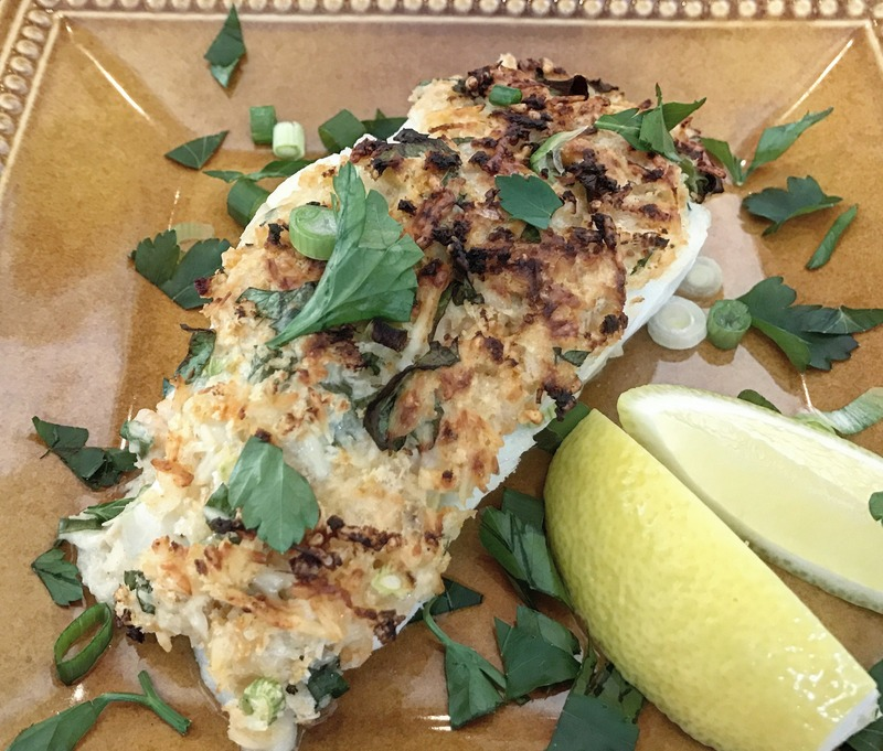 Grilled Mexican Street Corn and Baked Parmesan Panko Crusted Fish
