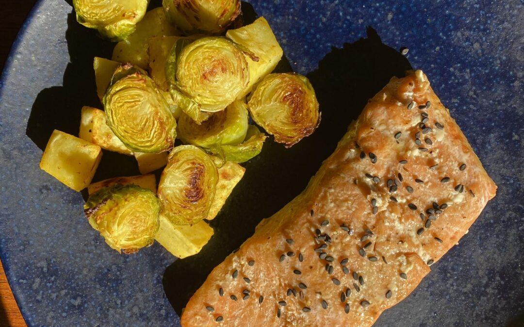 Sesame Salmon Sheet Pan Dish